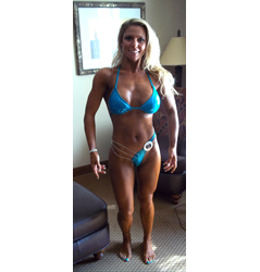 Figure Competitor Eats Bacon Cheeseburgers, Does Less Cardio, & Gets RIPPED!