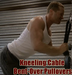 Kneeling Cable Bent-Over Pullovers