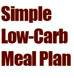 Simple Low Carb Meal Plan
