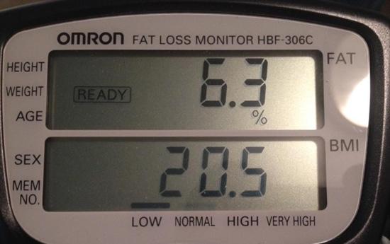Dany's final body fat reading