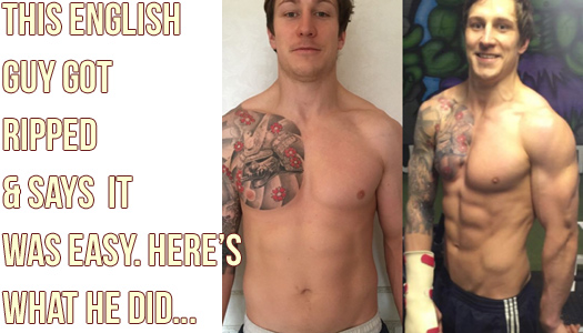 """29yr old English Guy Gets """"Cover Model"""" Abs In 12 Weeks"""